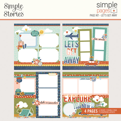 "Simple Stories ""Simple Pages"" Page Kit: Let's Get Away"