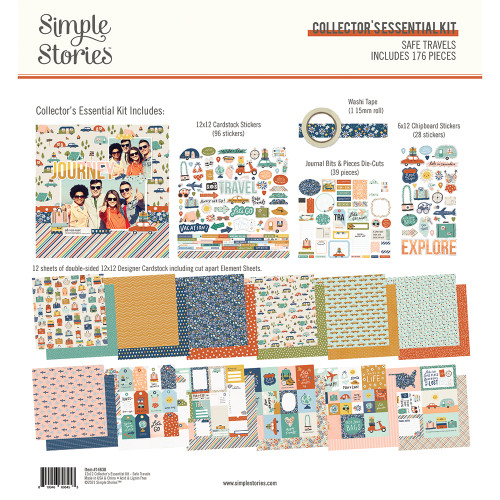Simple Stories Safe Travels Collector's Essential Kit