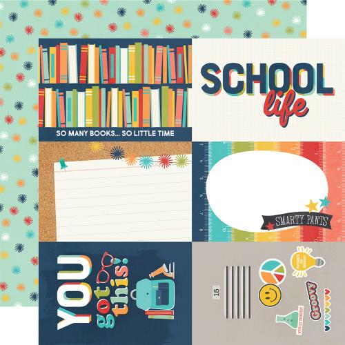 Simple Stories School Life 12x12 Paper: 4x6 Elements