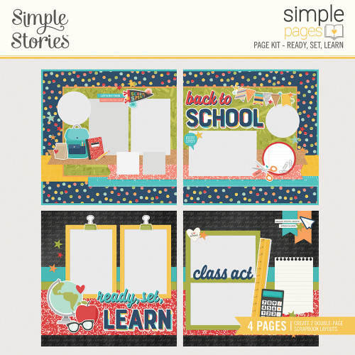 """Simple Stories """"Simple Pages"""" Page Kit: Ready, Set, Learn"""