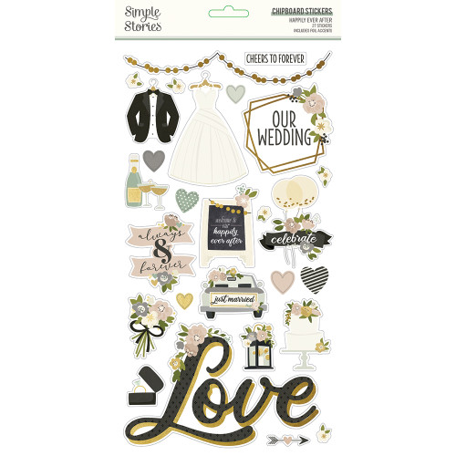 Simple Stories Happily Ever After 6x12 Chipboard