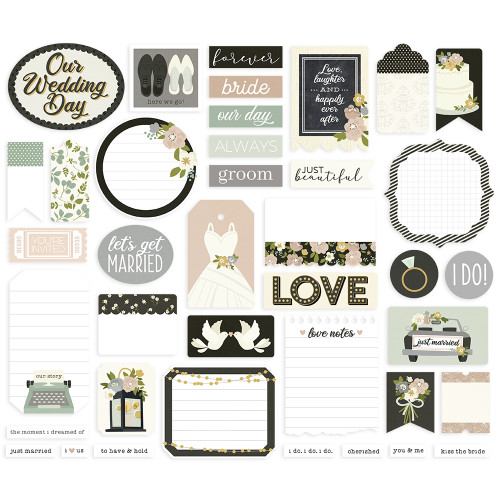 Simple Stories Happily Ever After Journal Bits
