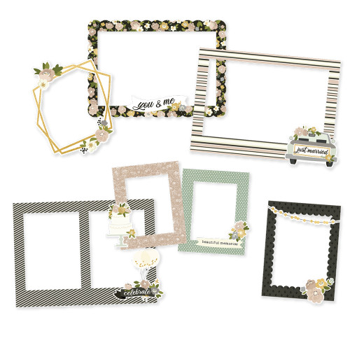 Simple Stories Happily Ever After Chipboard Frames