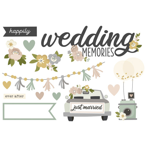 """Simple Stories """"Simple Pages"""" Page Pieces: Wedding Memories"""