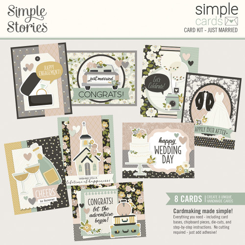 "Simple Stories ""Simple Cards"" Card Kit: Just Married"