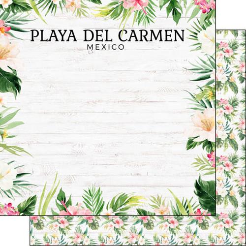 Scrapbook Customs 12x12 Travel Themed Paper: Vacay - Playa del Carmen