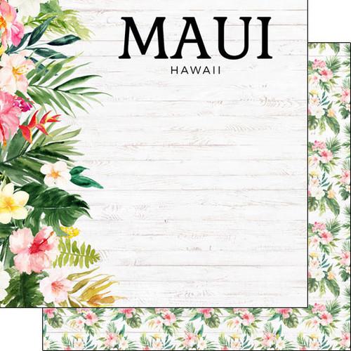 Scrapbook Customs 12x12 Travel Themed Paper: Vacay - Maui