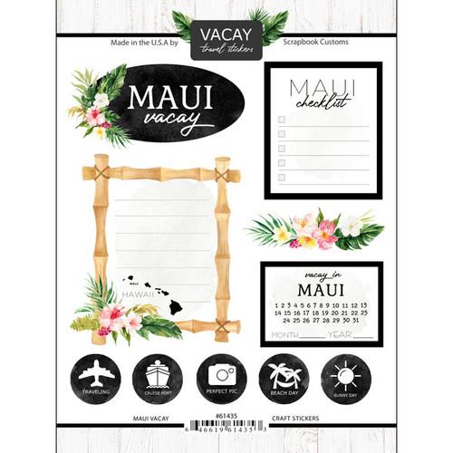 Scrapbook Customs Vacay Sticker: Maui