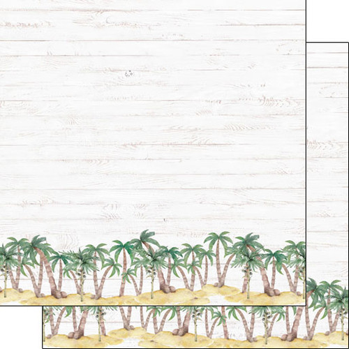 Scrapbook Customs 12x12 Travel Themed Paper: Vacay - Palm Border