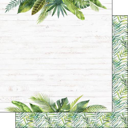 Scrapbook Customs 12x12 Travel Themed Paper: Vacay - Fern