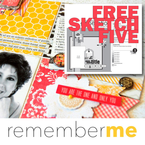* DIGITAL DOWNLOAD * Remember Me - Sketch #5 | One Page Sketch