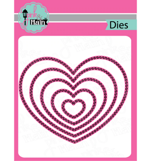 Pink & Main Metal Dies: Double Stitched Heart