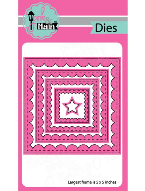Pink & Main Metal Dies: Reverse Scallop Square