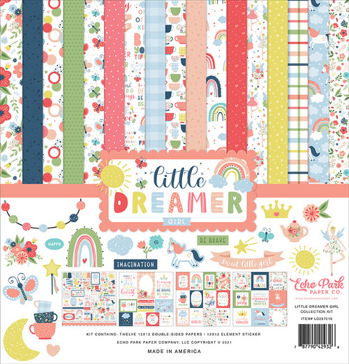 Echo Park Little Dreamer Girl Collection Kit