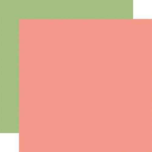 Echo Park Little Dreamer Girl 12x12 Paper: Pink / Green (Coordinating Solid)