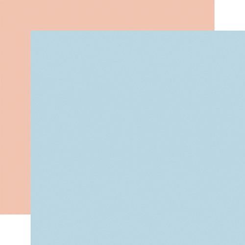 Echo Park Little Dreamer Girl 12x12 Paper: Lt. Blue / Lt. Pink (Coordinating Solid)