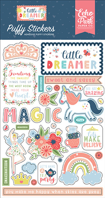 Echo Park Little Dreamer Girl Puffy Stickers