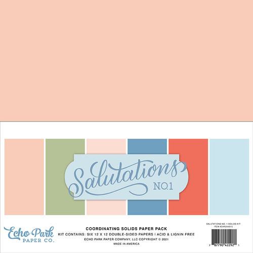 Echo Park Salutations No. 1 Solids Kit