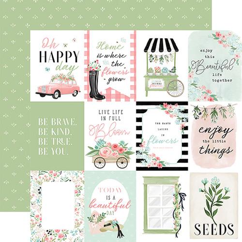 Carta Bella Flower Garden 12x12 Paper: 3x4 Journaling Cards