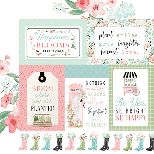 Carta Bella Flower Garden 12x12 Paper: Multi Journaling Cards