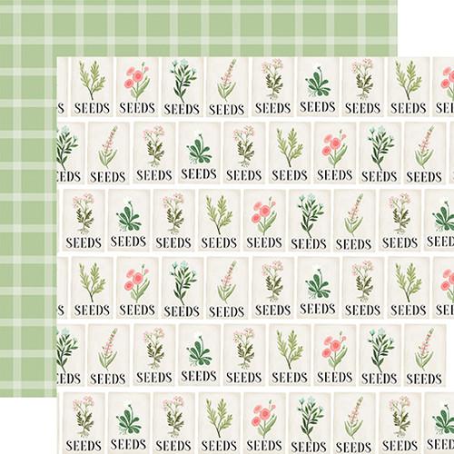 Carta Bella Flower Garden 12x12 Paper: Seeds