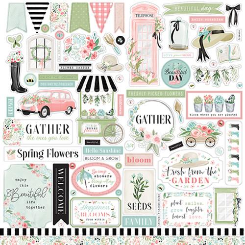 Carta Bella Flower Garden Element Sticker