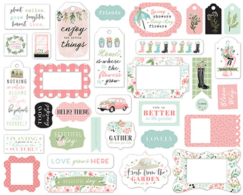 Carta Bella Flower Garden Frames & Tags