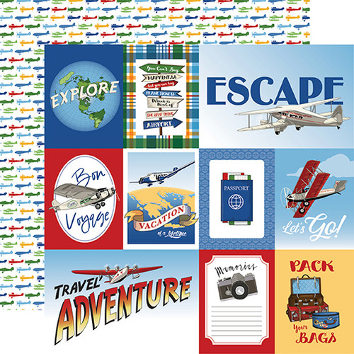 Carta Bella Our Travel Adventure 12x12 Paper: Multi Journaling Cards