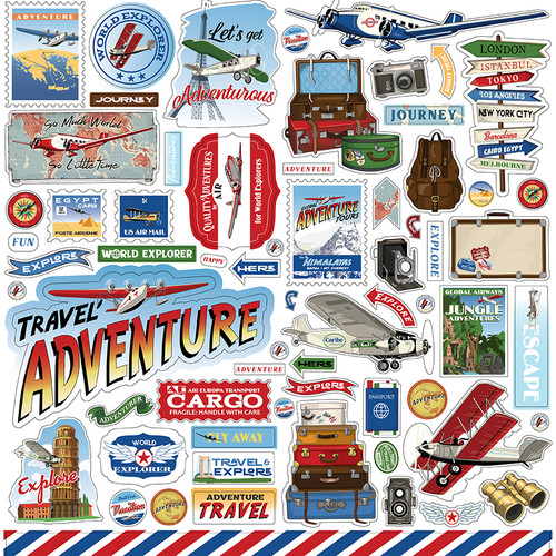 Carta Bella Our Travel Adventure Element Sticker