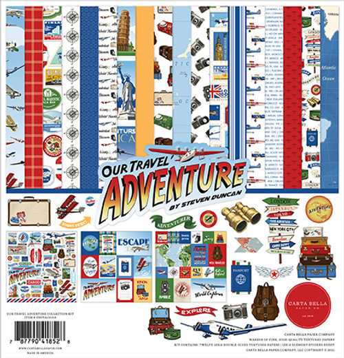 Carta Bella Our Travel Adventure Collection Kit