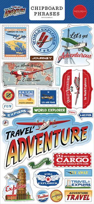 Carta Bella Our Travel Adventure 6x13 Chipboard Phrases