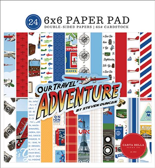 Carta Bella Our Travel Adventure 6x6 Paper Pad