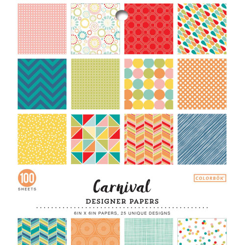 AC Colorbok Single-Sided 6x6 Paper Pad: Carnival