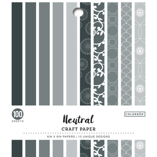 AC Colorbok Single-Sided 6x6 Paper Pad: Neutral