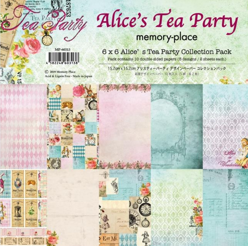 Memory Place 6x6 Paper Pad: Alice's Tea