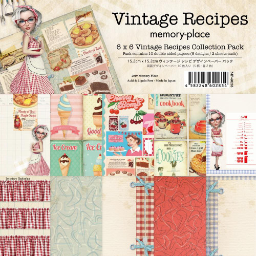 Memory Place 6x6 Paper Pad: Vintage Recipes