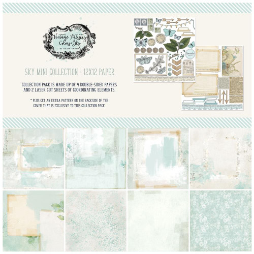49 and Market Vintage Artistry 12x12 Collection Pack: Sky