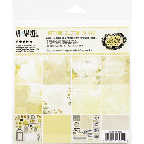 49 and Market Vintage Artistry 6x6 Paper Pad: Butter