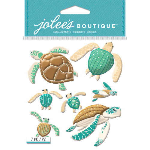 Jolee's Boutique Dimensional Stickers: Sea Turtles