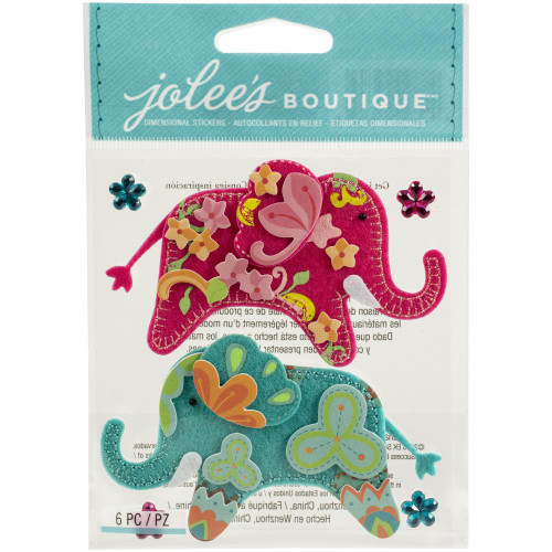 Jolee's Boutique Dimensional Stickers: Stitched Elephants