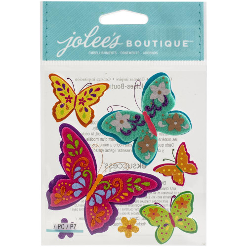 Jolee's Boutique Dimensional Stickers: Colorful Butterflies