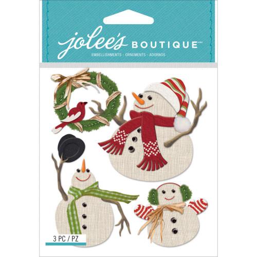 Jolee's Boutique Dimensional Stickers: Snowmen
