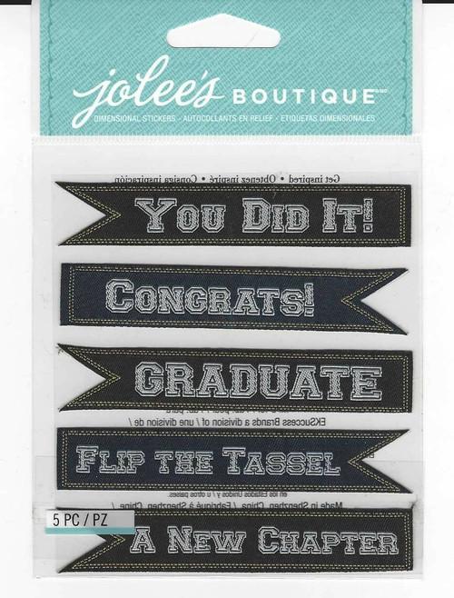 Jolee's Boutique Dimensional Stickers: Graduation Banners