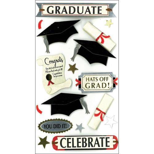 Jolee's Boutique Le Grande Dimensional Stickers: Graduate Celebrate