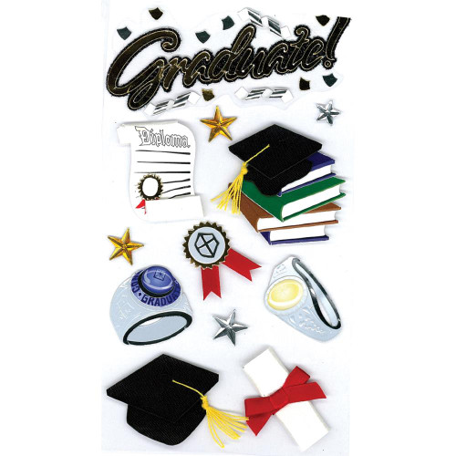 Jolee's Boutique Le Grande Dimensional Stickers: Graduate