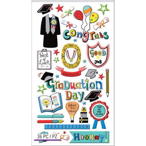 Sticko Puffy Stickers: Graduation