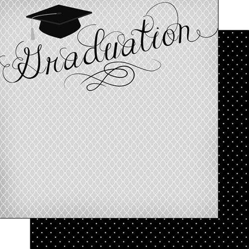 Scrapbook Customs Graduation 12x12 Paper: Elegant Graduation/Dots