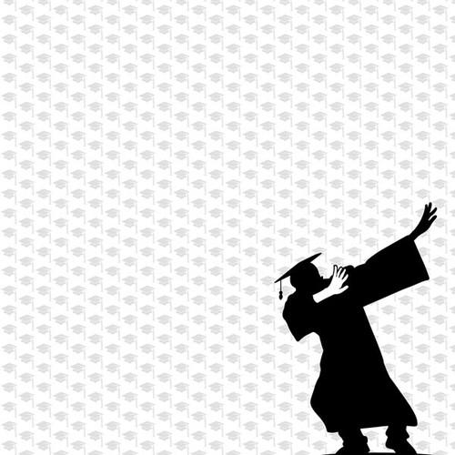 Scrapbook Customs Graduation 12x12 Paper: Senior Class/Dab