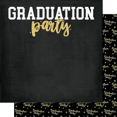 Scrapbook Customs Graduation 12x12 Paper: Graduation Party