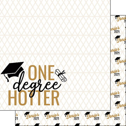 Scrapbook Customs Graduation 12x12 Paper: One Degree Hotter
